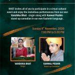 Cultural Evening with Vanshika Bhat Ji and Kanwal Peshin Ji – 8th Nov 2020
